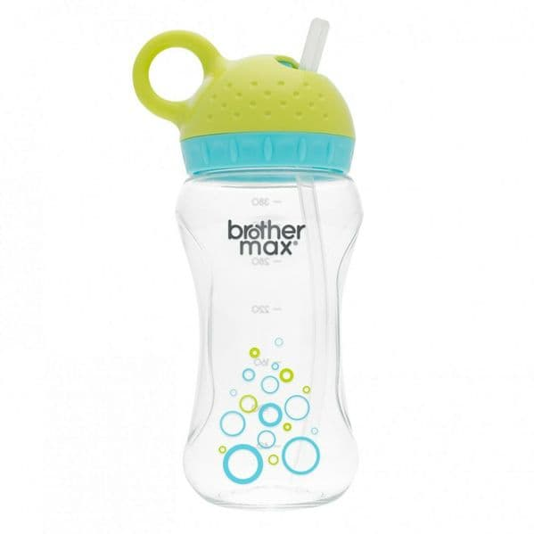 Brother Max - Twister Straw Non Spill Cup 380ml - Green/Turquoise